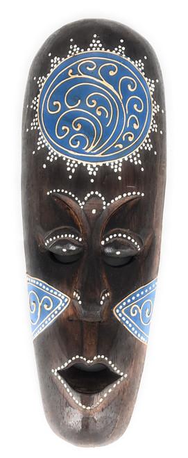 """Tribal Tiki Mask 12"""" Blue - Tattoo Primitive Art   #wib370230b"""