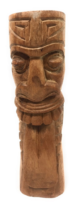 "Maori Tiki Totem 8"" Natural - Hawaiian Tiki Bar Decor | #yda1100820"