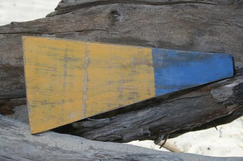 "5 Nautical Numerical Flag 12"" Wood Plaque - Coastal Decor | #skn160215"
