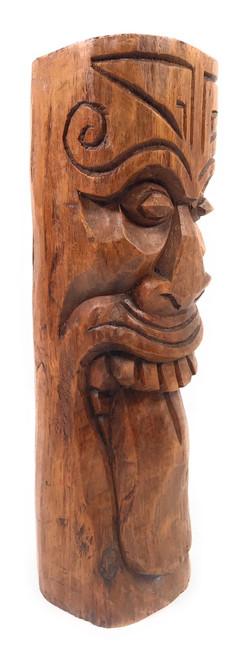 """Maori Tiki Totem 12"""" Stained - Warrior Strength Tiki   #yda1100830b"""