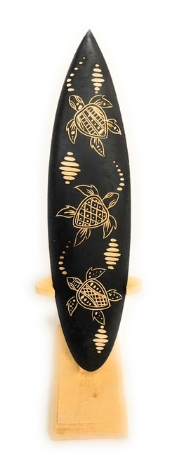 "Surfboard On Stand w/ Turtle Ohana 10"" - Trophy 