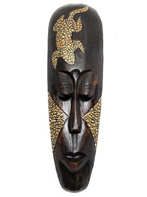 "Gecko Tribal Mask 20"" - Primitive Wall Decor   #nmk220450"