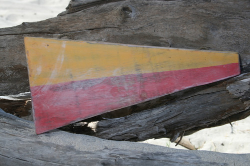 "7 Nautical Numerical Flag 12"" Wood Panel - Coastal Decor   #skn160217"