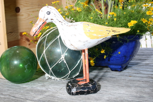 "Seagull Bird 14"" Wooden - Rustic Coastal Decoration 