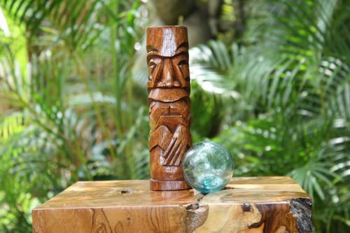 "Kailua Tiki Totem 8"" Stained - Hawaiian Tiki Bar Decor | #yda1100920b"