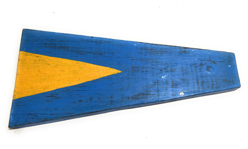 "1st Nautical Numerical Flag 12"" Wood Plaque - Coastal Decor 