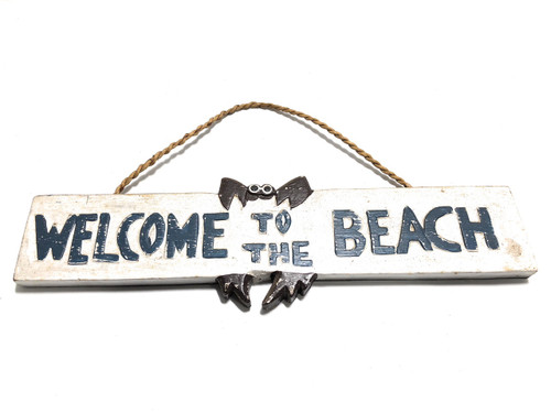 "Welcome To The Beach Sign 14"" - Beach Decor 
