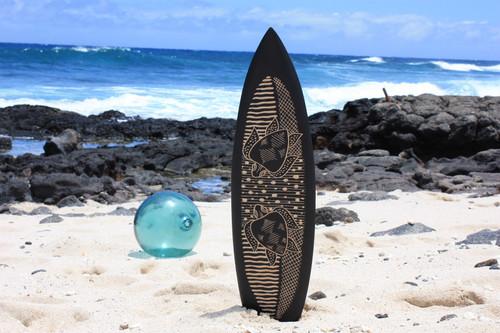 "Wooden Surfboard w/ Swimming Turtles 30"" - Hawaii Decor | #sur16b75"