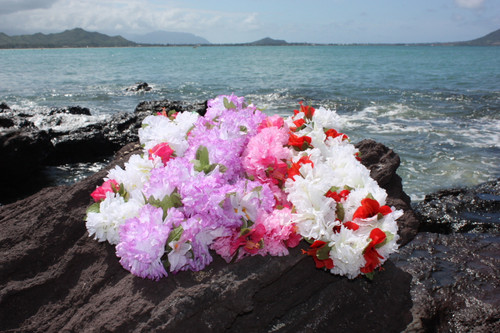 "Carnation Combo Leis, Assorted, 6 Pack 18"" - Hawaii Silk Leis"