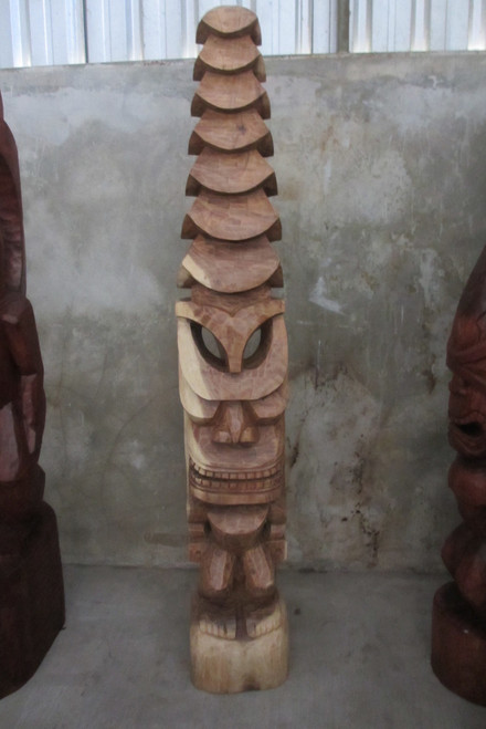 Tiki God Temple Image 6 Feet - Natural Hawaii Museum Replica