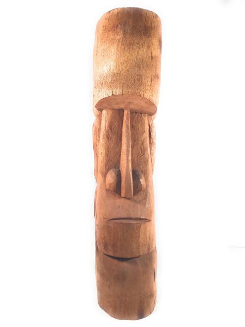 "Easter Island Tiki Totem 40"" - Natural Finish - Outdoor Tiki Decor | #lbj3030100a"