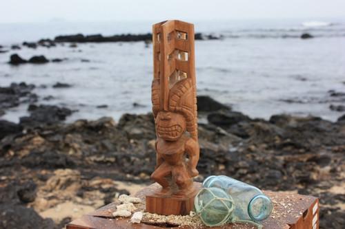 "Tiki Akua 12"" - Hawaii Museum Replica Natural - Hawaii Heritage   #yda1101730"