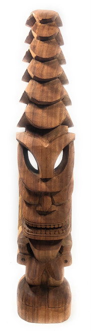 "Tiki God Temple Image 32"" - Natural Hawaii Museum Replica   #yda1102880"