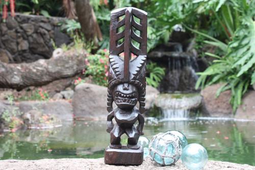 "Tiki Akua Kai 16"" - Walnut Stain - Hawaii Museum Replica   #yda1101740b"