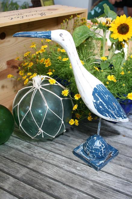 "Decorative Heron Bird 14"" - Rustic Blue Coastal Decor | #ort1704834b"