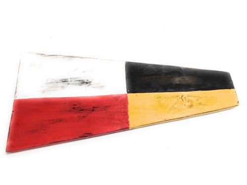 "9 Nautical Numerical Flag 12"" Wood Plaque - Coastal Decor | #skn160229"