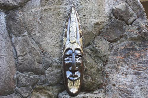 "Supreme Chief Tribal Mask 36"" - Primitive Decor Wall Hanging | #nmk220790"