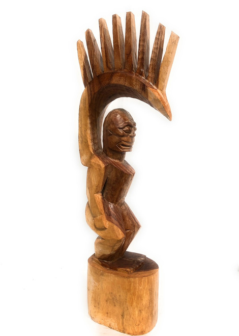 "Tiki Goddess Pele - 48"" Hand Carved Replica 