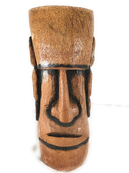 "Easter Island Tiki Statue 20"" w/ Burnt Finish - Outdoor Pool Decor | #lbj303050b"
