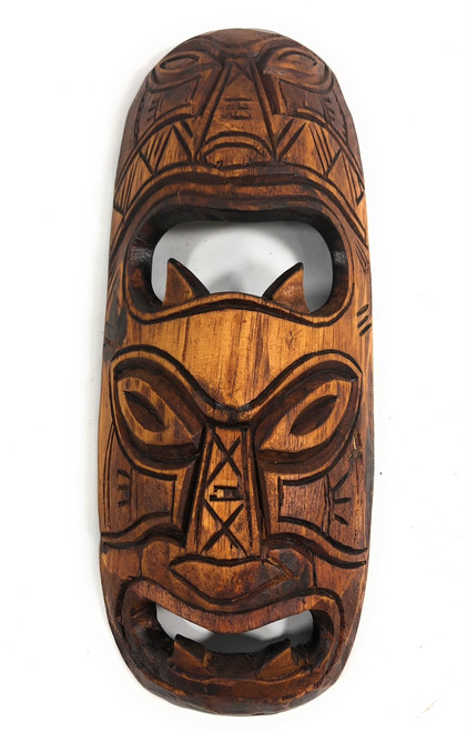 "Fijian Tiki Mask 12"" - 2 Deities Strength & Abundance 