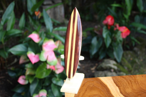 "Classic Surfboard Brown w/ Vertical Stand 8"" - Trophy 