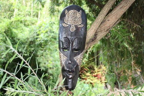 """Turtle Native Tribal Tiki Mask 20"""" - Abstract Wall Decor   #nmk220950"""