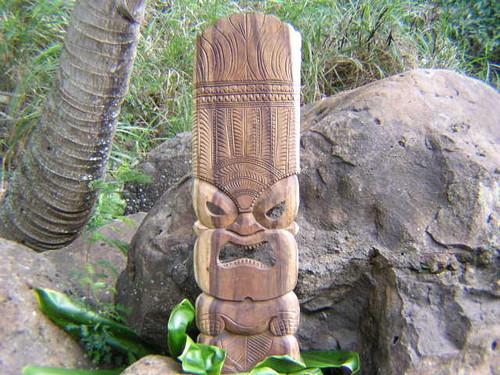 "Premium Ku Tiki Mask 36"" - Monkeypod Hand Carved   #rti201790n"