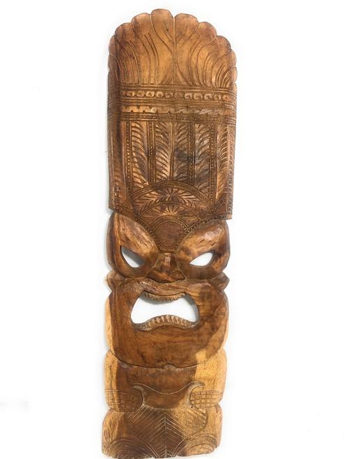 "Premium Ku Tiki Mask 36"" - Monkeypod Hand Carved | #rti201790n"