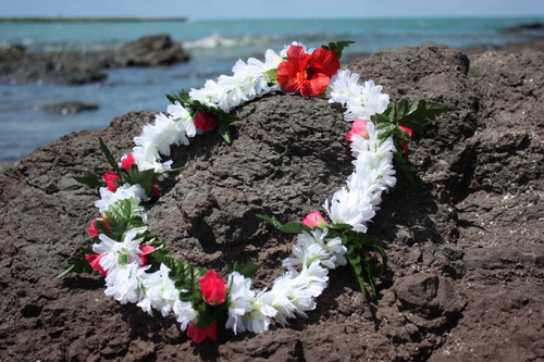 "Lei Pikake w/ Rose White & Pink 18"" - Hawaiian Silk Leis"