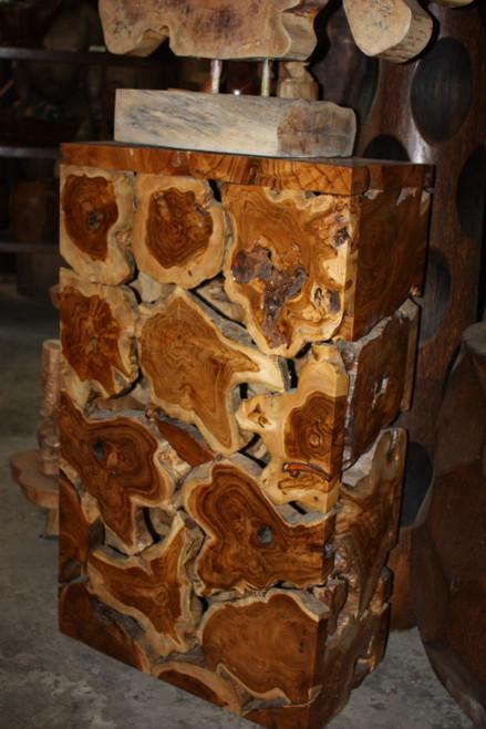 "Teak Root Coffee Table/Pedestal 40"" X 24"" X 12"" - Bali Art Decor"