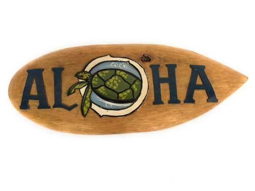 """Aloha Surf Sign 20"""" Hand Carved/painted 