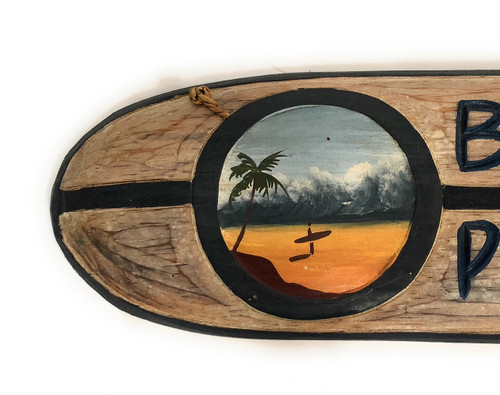 """/""""Banzai Pipeline/"""" Wooden surf sign w// custom painting#ldr10"""
