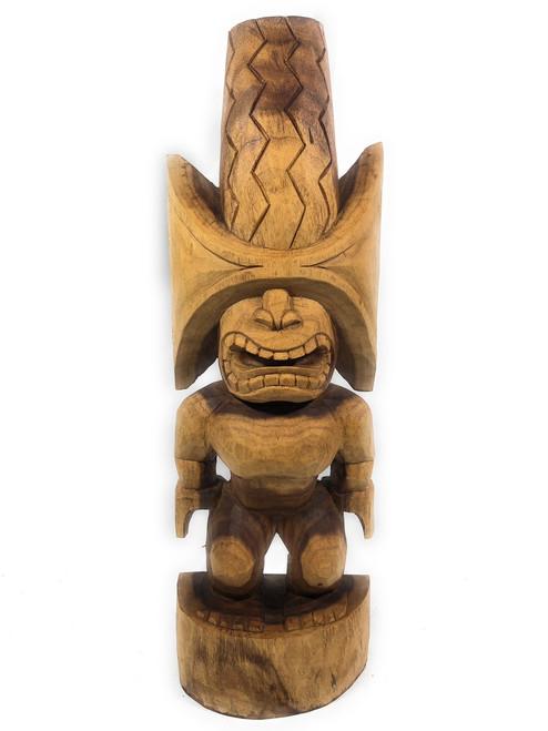 "Ku Kona-Style Tiki 32"" - Natural | Traditional Hawaii Museum Replica | #yda1103080"