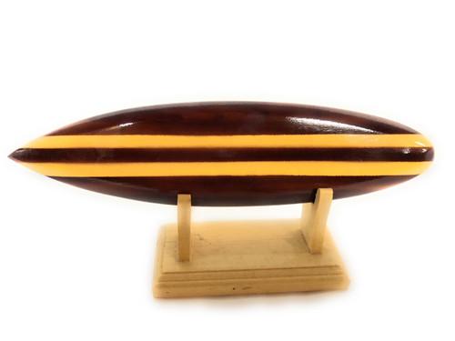 "Classic Surfboard Brown w/ Horizontal Stand 8"" - Trophy | #wai350220b"