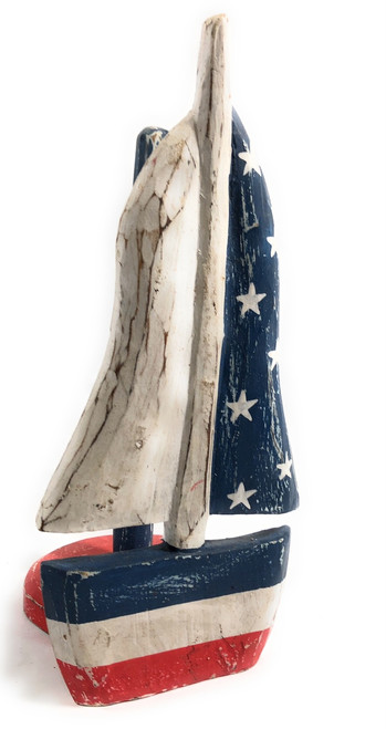 "Sailboat Americana Paper Towel Holder 16"" - USA Decor 