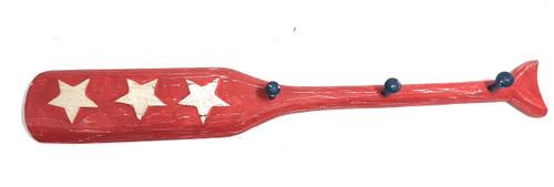"""Texas Americana Oar Hanger/Key Holder 22"""" Red - 3 Pegs   #ort17079a"""