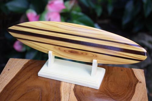 "Classic Surfboard Natural w/ Horizontal Stand 12"" - Trophy   #wai350230n"