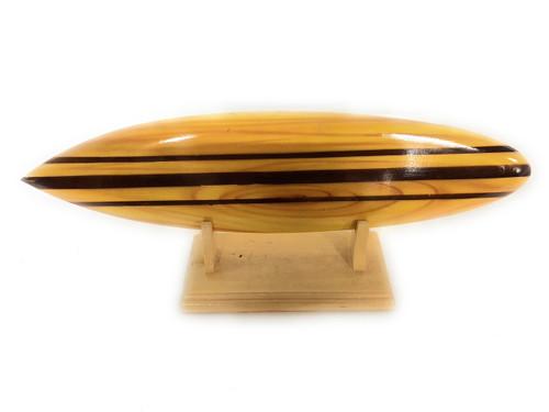 "Classic Surfboard Natural w/ Horizontal Stand 12"" - Trophy | #wai350230n"