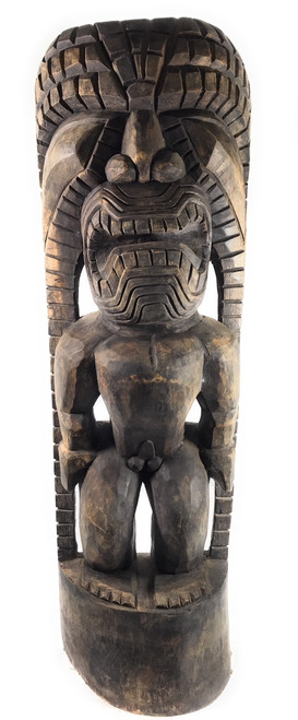"Tiki God Of King Kamehameha 48"" - Kuka Ilimoku - Stained 