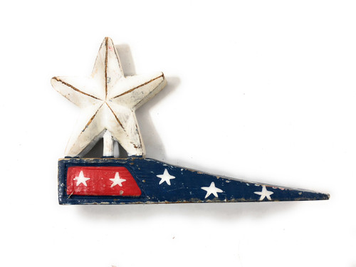 "Americana Door Stopper Blue w/ Star 4"" - USA Decor"