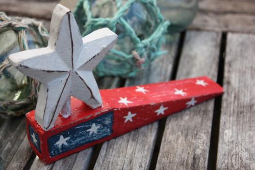 "Americana Door Stopper Red w/ Star 4"" - USA Decor | #ort17081b"