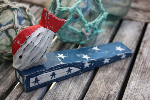 "Americana Door Stopper w/ Fish 4"" - USA Decor | #ort17081c"