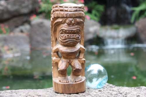 "God of King Kamehameha Tiki 8"" - Hawaii Museum Replica 