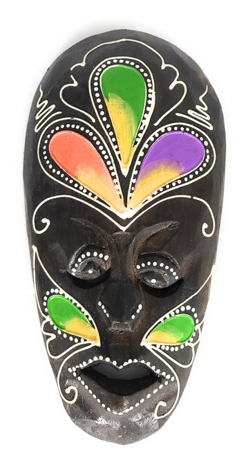"Tribal Tiki Mask 8"" Floral - Primitive Art 