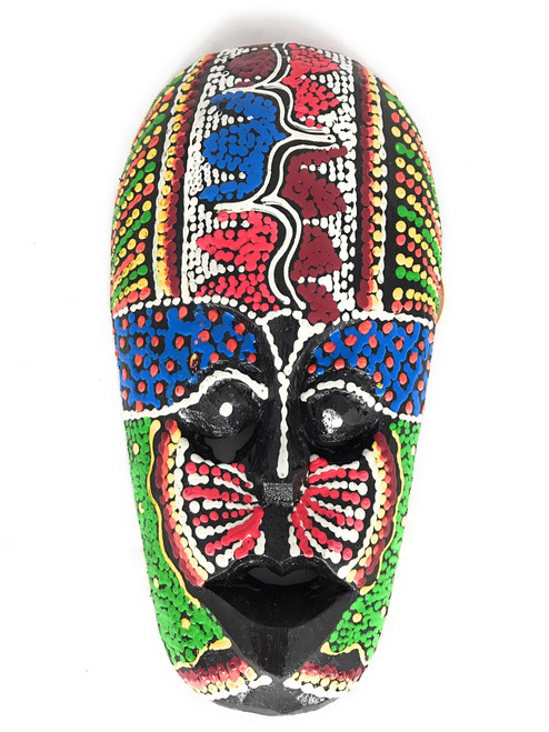 "Tribal Tiki Mask 8"" Floral - Primitive Art | #wib370420d"