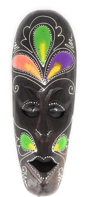 "Tribal Mask 12"" Floral - Primitive Art | #wib370430b"