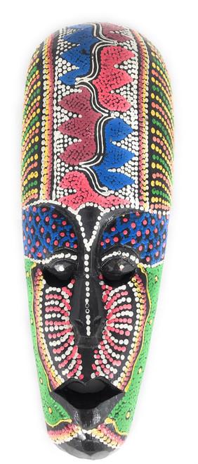 """Colorful Tribal Mask 12"""" Tattoo Tiki - Primitive Art   #wib370430d"""