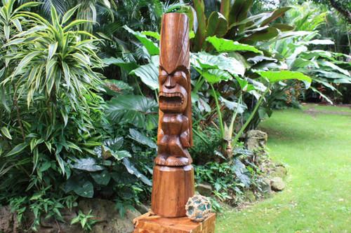 "Love Tiki Totem 40"" Hand Carved | Hawaiian Outdoor Decor | #yda11001100"