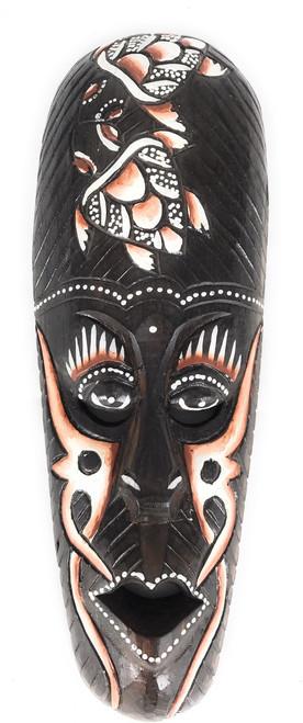 "Tribal Mask 12"" w/ Turtles - Primitive Art Tiki | #wib370530b"