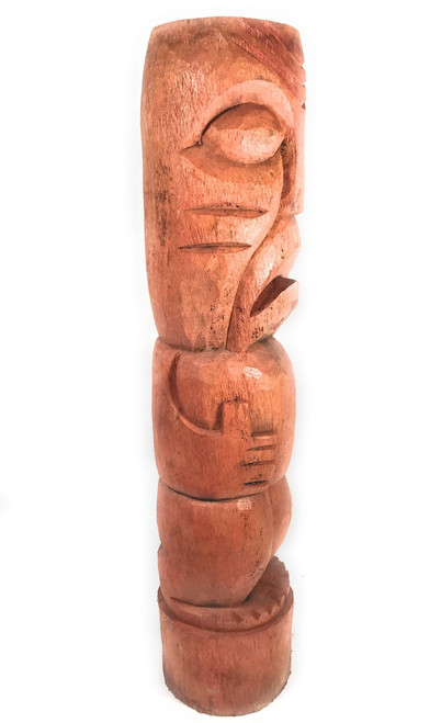 "Kaena Chief Outdoor Tiki Totem Pole 40"" - Natural Finish 